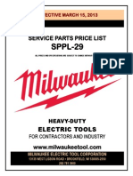 Parts Pricing MILWAUKEE TOOLS