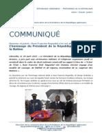 Communiqué de presse - Hommage national à Rose Francine Rogombé
