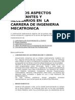 Aspectos Importantes en Ingenieria Mecatronica