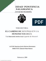 El Camino de Levinas en La Fenomenología Un Itinerario Intelectual a Partir de Husserl (Tesis)