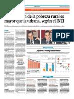 Javier Escobal - La reducción de la pobreza rural es mayor que la urbana, según el INEI - El Comercio - 240415