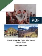 Sejarah, Agama, Tradisi dan Budaya Suku Tengger, Bromo