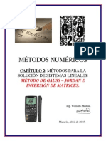 Método de Gauss - Jordan y Matriz Inversa
