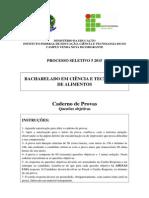 Caderno Questoes Fechadas PS 5 2015 CTA Venda Nova