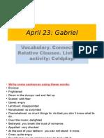 April 23 English class