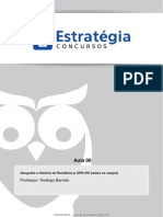 Geografia e História de Rondônia Aula 00
