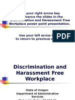 Discrimination Harassment Free Workplace