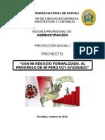 Proyección Social i (Administración Viii) - 2014 II