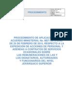 Instructivo de Aplicación Del Acuerdo Mdt-2015-0040-1