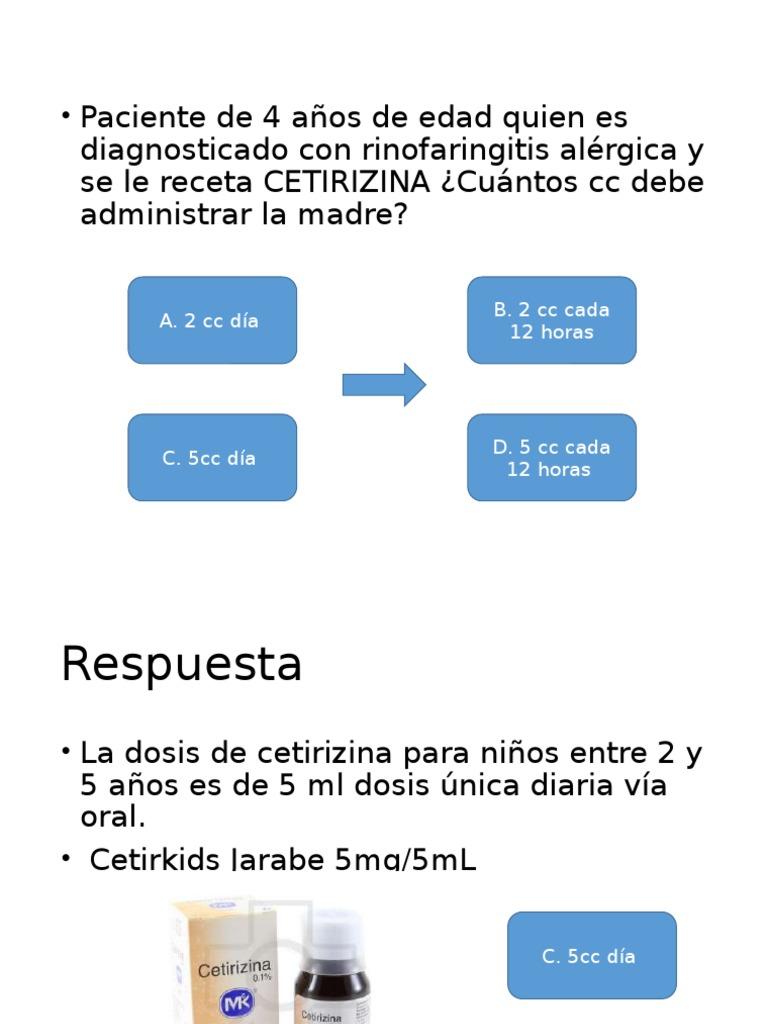 sulfato de zinc jarabe dosis niños