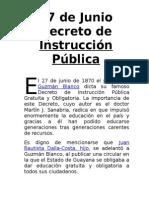 Decreto de Instrucción Pública