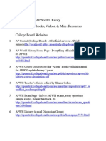Recommended AP World History Resources
