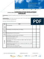 Written Communication Development Checklist