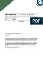 GSM_GPRS_EDGE Metricssa for Baseline