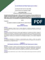 Reglamento_Organico Ministerio de La Cultura