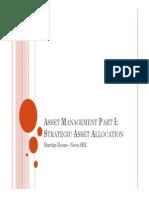 Asset Management - Lecture 1