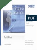 Certificate of Achievement Automação Integrada OMRON