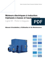 WEG Moteurs a Induction Triphases a Haute Et Baisse Tension Rotor a Bagues 11576442 Manuel Francais