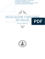 Regulacion y Reforma de Salud