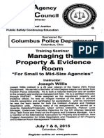 Property and Evidence Room Management