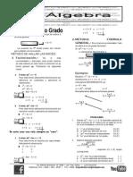 Algebra Ec. 2do Grado