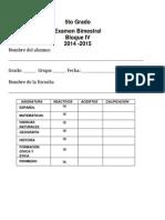 Examen 4to bimestre