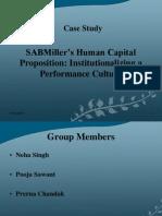Sabmiller's Case Study