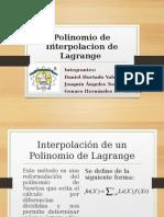 Polinomio de Interpolacion de Lagrange.pptx