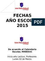Fechas Año 2015