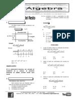 Algebra- 7 Ruffini y Resto