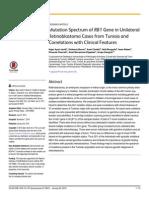 Mutation Spectrum of RB1