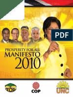 UNC Manifesto 2010