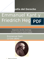 Emmanuel Kant y Friedrich Hegel