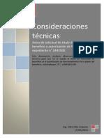 Consideraciones técnicas Aviso de solicitud de título de concesión de beneficio y autorización de funcionamiento expediente n° 2443500