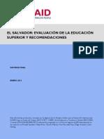 Official El Salvador Higher Education Assessment_APRIL 27 2012 SPA DEC Submission
