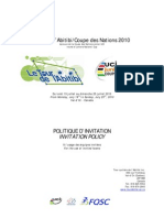 Politique d'Invitation - Invitation Policy