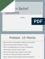 modern belief systems pre-test