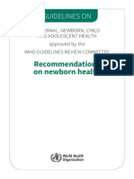 Guidelines Recommendations Newborn Health