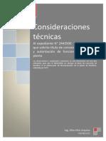 Consideraciones técnicas Al expediente N° 2443500  Tía María-SPCC. que solicita título de concesión de beneficio y autorización de funcionamiento de la planta