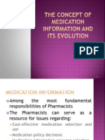 The Concept of Medication Information and Its Evolution