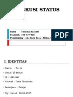 Diskusi Status Rahma-Fr. Tibia Dekstra