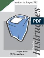 Manual Lavadora Electrolux Mod. LF80