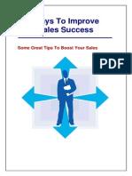 100 Ways to Improve Your Sales Success