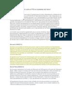 Resumen de Información Sobre El FFE en Localidades Del Interior