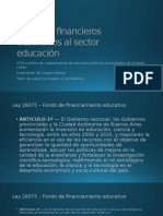 Recursos Financieros Destinados Al Sector Educación