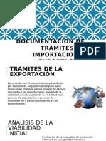 Documentacion de Tramites de Importacion y Exportacion