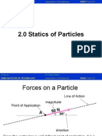 statics of particles