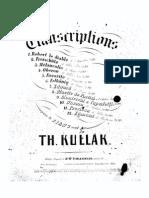 Transcriçoes de Operas - Piano - Kullak