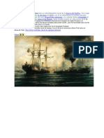 El Combate Naval de Iquique Fue Un Enfrentamiento Naval de La Guerra Del Pacífico