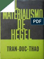 Tran Duc Thao El Materialismo de Hegel